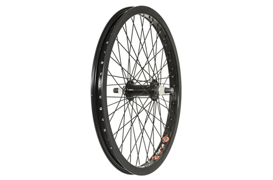 Front BMX Wheel, 48h, 14mm Axle, Black