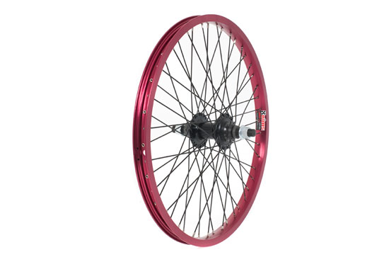 Anodised BMX Wheel, 14mm Axle, FRONT - Red