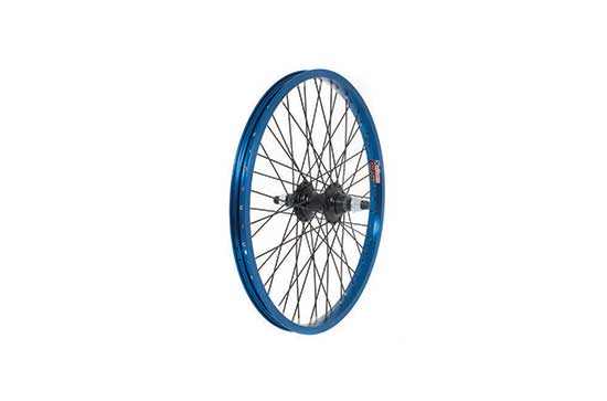 Anodised BMX Wheel, 14mm Axle, 9 Tooth Driver, REAR - Blue
