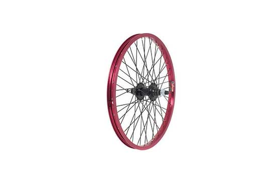 Anodised BMX Wheel, 14mm Axle, 9 Tooth Driver, REAR - Red