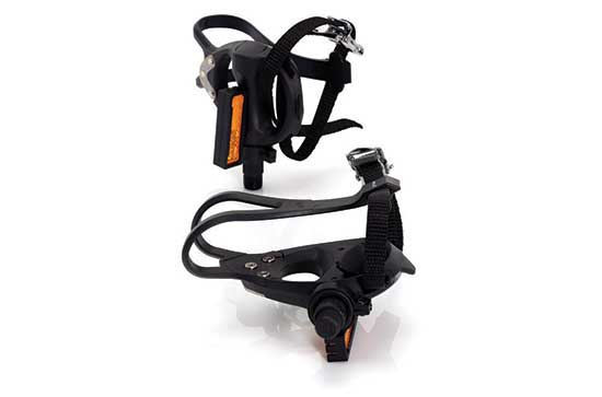 Road Pedal And Toe Strap Set