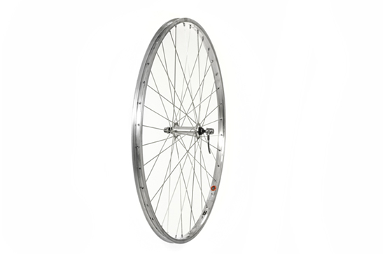 700C Front Wheel, alloy hub, Single Wall Rim, Silver (Q/R)
