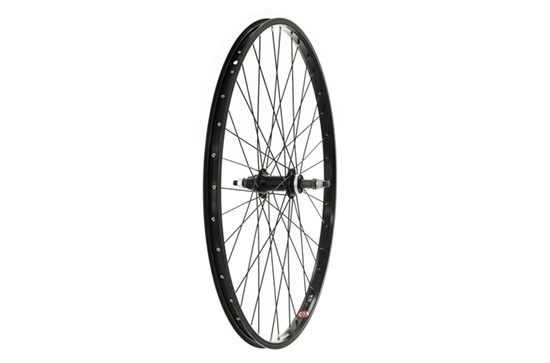 26 x 1.75 Rear Wheel, Alloy hub, Black screw on