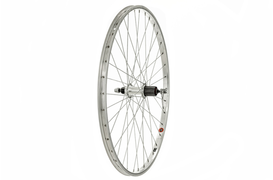 26x1.75 Rear Wheel, Silver, 8/9spd Cassette (QR)