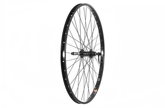26 x 1.75 Rear Wheel, Black (QR) screw on