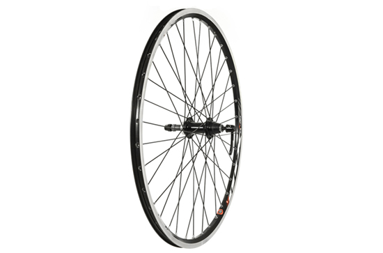 26 X 1.75 Rear Wheel, Mach1, Black (QR) Screw On