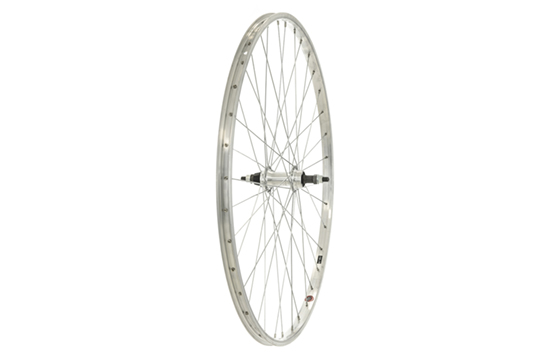 700C Rear Wheel, Alloy rim, Screw-on, Nutted Axle, Silver