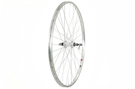 700C Rear Wheel, Alloy rim and Hub, screw-on, Silver (Q/R)