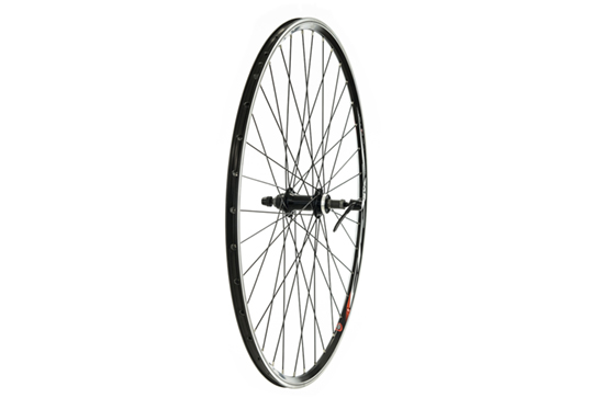 700C Rear Wheel, Mach1 CFX Rim, Screw-On Freewheel Fitting, Black (QR)