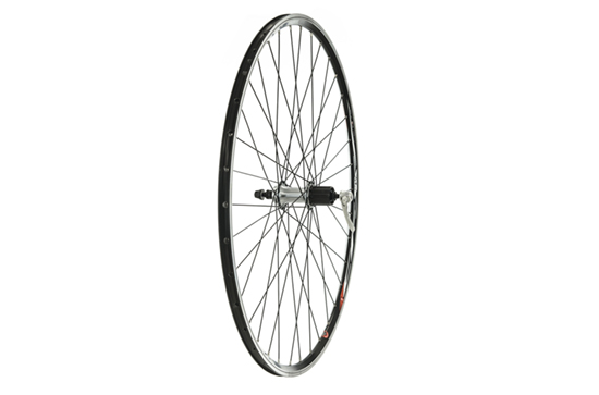 700C Rear Wheel, Mach1 CFX Rim, 8/9spd Cassette, Black (QR)