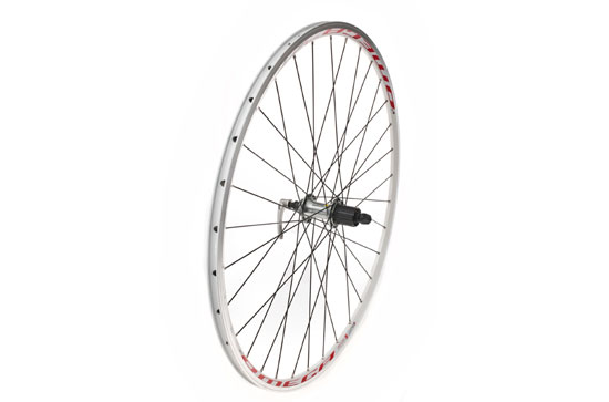 700C Rear Wheel, Mach1 Omega, 10spd Tiagra, White