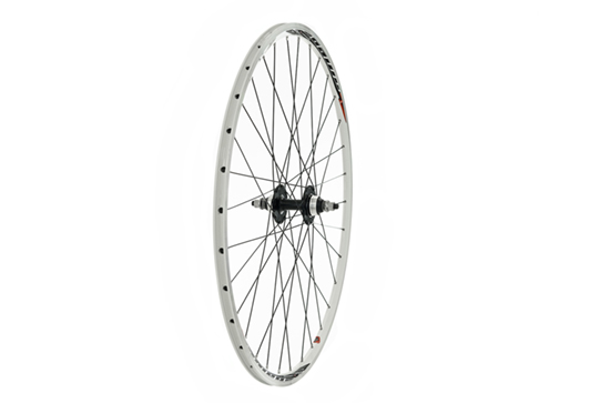 Rear Track Wheel, Mach 1 Omega Rim, White.