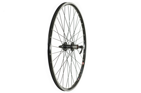 700C Rear Trekking Disc Wheel 700c, 8/9 spd cassette, Black (QR)