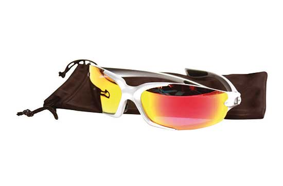 Galapagos Glasses Black Frame Orange Mirror Clear & Yellow Lens