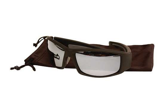 Cayman Glasses Matt Black Frame Smoke Mirror Lens