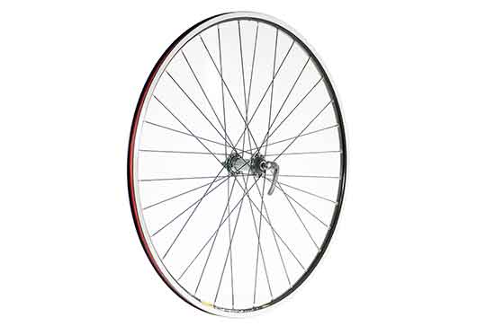 700C Rear Wheel, Shimano Ultegra Silver 10/11spd Hub, Mavic Open Pro Rim, 32H, Black.