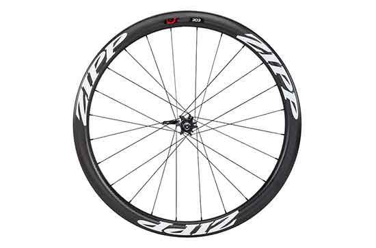303 Carbon Clincher Disc Brake V2 77D Front 24 Spokes White Decal