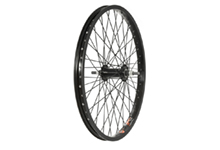 "20"" BMX Wheel, Front, Black 3/8"" Nutted."