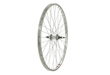 26x1.75 Rear Wheel, Steel hub, Silver screw on