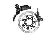 Disc Brake Guide Ultimate, Carbon Lever, Ti Hardware, Reach,SwingLink, Contact, Black Ano Rear 1800mm Hose (Rotor/Bracket sold separately, Rear Brake includes bleed kit)