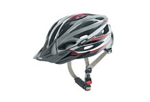 X ride MTB cycle helmet  silver/red/black