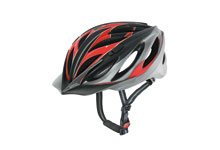 Sport boss CC MTB cycle helmet silver & red