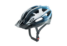 Supersonic  MTB cycle helmet white / silver / blue