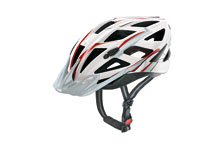 Xenova cycle helmet  white & red l