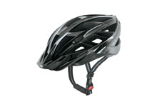 Xenova  black & silver cycle helmet