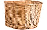D Shape Wicker Basket