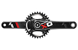 Crank X01 BB30 Red 11 speed 94 bcd w Chain Ring Bolts