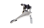 Front Derailleur Red Yaw Braze-on with Chain Spotter