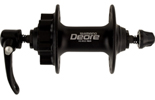 Front hub Deore disc 6 bolt 32 hole black.